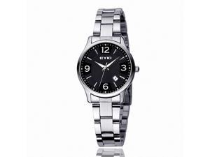 EYKI Women's Stainless Steel Quartz Analog Wrist Watch EET8570AGL Black Face