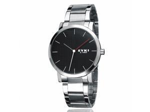 EYKI Men's Stainless Steel Quartz Analog Wrist Watch EET8410AGL Black Face