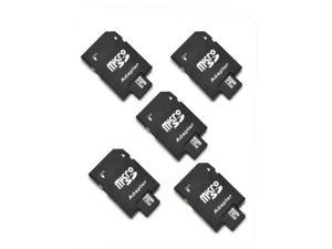 5Pcs 4G 4GB T-Flash TF Micro SD Memory Card + SD Card Adapter+Case camera phone