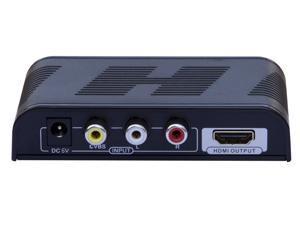 New Composite AV CVBS 3RCA Video Audio to HDMI Converter Box HD 720p 1080p