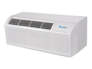 9,000 Btu Klimaire PTAC Packaged Terminal Air Conditioner & Heat Pump - 3kw Electric Heater - Wall Sleeve - Back Grille - ...