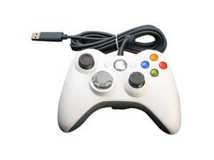 Wired USB Game Pad Gamepad Joypad Controller For Microsoft Xbox 360 & Slim PC Windows Win7 White