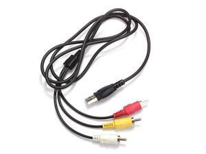 USB Male A to 3x RCA AV A/V Video Audio LCD TV Adapter Converter Lead Cord Cable