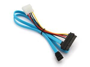 SAS 29 Pin & 4 Pin to 7 Pin SATA Serial ATA Power Cable Male Connector Adapter