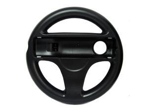 Steer Steering Wheel For Nintendo Wii Mario Kart Racing Games Remote Controller Black