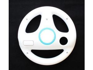 Steer Steering Wheel For Nintendo Wii Mario Kart Racing Games Remote Controller White