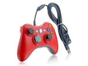 Red USB Dual Shock Game Pad Wired Controller Gamepad Joystick Jaypad for Microsoft Xbox 360 PC
