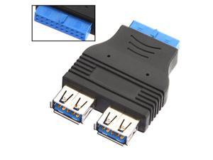 USB 3.0 2 Ports Female to Internal HUB Motherboard 20-Pin Male Adapter Connector