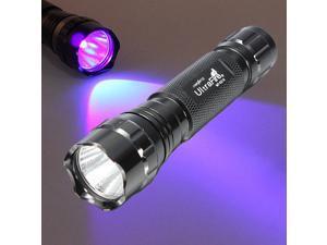 UltraFire WF-501B LED Flashlight 375NM UV Ultra Violet Blacklight Waterproof Torch Lamp 18650