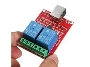 2 PCS New USB Relay Module 2 Channel Programmable Computer Control For Smart Home