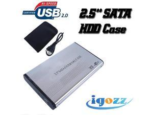 "Portable USB 2.0 SATA 2.5"" External Hard Disk Drive HDD Case Box Enclosure pc laptop"