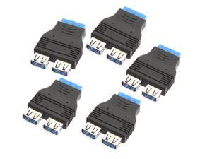 5 pcs 2 Ports USB 3.0 Female to Internal HUB Motherboard 20-Pin Male Adapter Connecter pc laptop