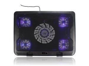 "New 5 Fans LED USB Cooling Adjustable Stand Pad Cooler For 10""-17"" Laptop Notebook"