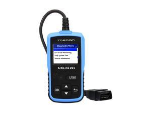 OBD2/EOBD Scanner Topdon ArtiLink AL201 Auto Code Scanner Check Engine Code Reader with O2 Sensor Test / View Freeze Frame Data / DTC Read and Clear (Topdon AL201)