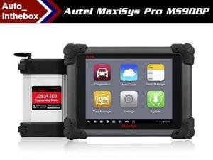 100% Original AUTEL MaxiSYS Pro MS908P Car Diagnostic / ECU Programming  Tool J-2534 System with WiFi / Bluetooth