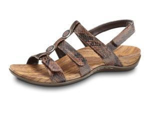 Orthaheel Yasmin II - Supportive Sandals Brown Snake