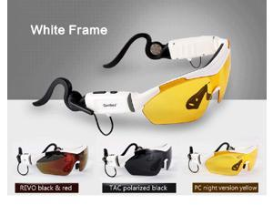 White Touch control Bluetooth stereo headset sunglasses lens for iPhone 5s