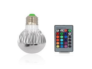 Elec-King LED008 E27 RGB LED Lamp bulb AC 100-240V 3W with Remote Control Memory Effect