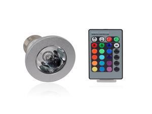 ELEC-KING LED009 3W E27 16 Color 80LM LED RGB Magic Light Bulb with Remote Control Memory Effect