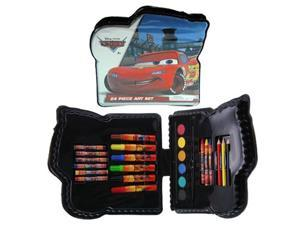 Cars Shaped 24pc Art Set in Plastic Case