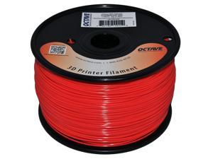 Octave 1.75mm Fluorescent Red ABS Filament 1kg (2.2lbs) Spool for Reprap, MakerBot, Afinia and UP! 3D Printer