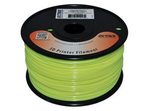 Octave 1.75mm Fluorescent Yellow ABS Filament 1kg (2.2lbs) Spool for Reprap, MakerBot, Afinia and UP! 3D Printer