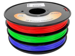 Octave 1.75mm Rainbow ABS Filament 1kg (2.2lbs) 3 Color Red-Green-Blue Spool for Reprap, MakerBot, Afinia and UP! 3D Printer