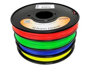 Octave 1.75mm Rainbow ABS Filament 1.33kg (2.94lbs) 4 Color Red-Green-Blue-Yellow Spool for Reprap, MakerBot, Afinia and ...