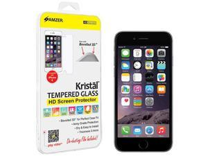Amzer Kristal Tempered Glass HD Screen Guard Protector for Apple iPhone 6 (Fits All Carriers)