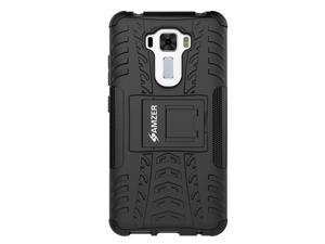 AMZER Impact Resistant Hybrid Warrior Case with Kickstand for Asus ZenFone 3 Laser ZC551KL