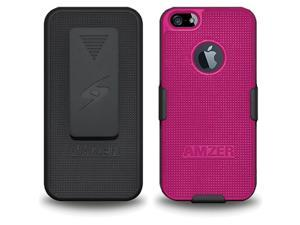 AMZER Black / Hot Pink Shellster Shell Holster Combo Case For iPhone 5 AMZ94831