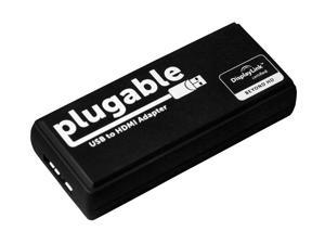 Plugable USB3-HDMI-DVI USB 3.0 to HDMI/DVI Adapter (Supports HDMI Monitors up to 2560×1440, DVI up to 1920×1200)