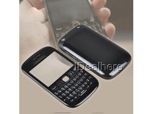 Full Replacement Housing Cover Case Keyboard for Blackberry 9220 Black