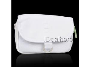 White Nylon Carrying Waist Bag for Nintendo DS Lite