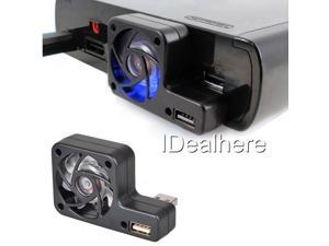 Black USB Port Cooler Cooling Fan for Nintendo Wii U Console