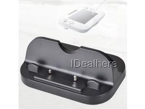 Black USB Charging Docking Station Stand for Nintendo Wii U Gamepad Controller