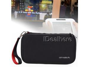 Black Shockproof Protective Zip Case Bag for Nintendo Wii U Console