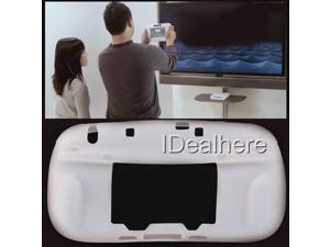 White Ultra Soft Silicon Gel Case Skin Cover for Nintendo Wii U Controller