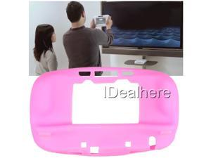 Pink Ultra Soft Silicon Gel Case Skin Cover for Nintendo Wii U Controller
