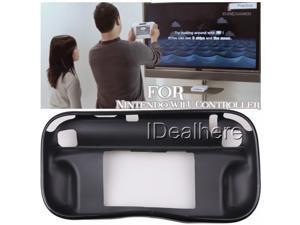 Black Soft TPU Protective Case Skin Cover for Nintendo Wii U Controller