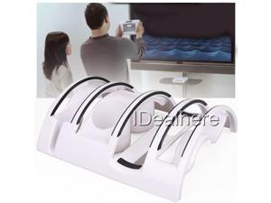 Brand New White 4 in 1Combination Bracket Stand Holder for Nintendo Wii U