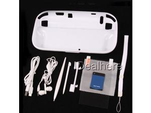 10in1 Accessory Kits for Nintendo Wii U TPU Case+Earphone+Stylus+Strap