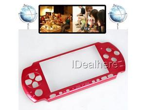 Red Front Faceplate Shell Case Cover for PSP3000