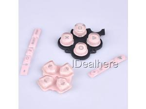Pink Button Keypad Replacement Button Repair Parts Set For PSP 3000