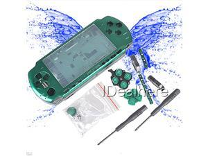 Green Full Housing Case Shell Buttons + 2 Screwdrivers for PSP 3000