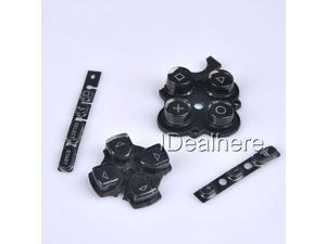 Black Button Keypad Replacement Button Repair Parts Set For PSP 3000