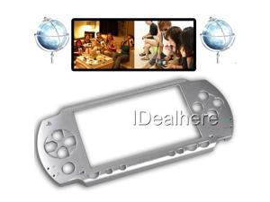 Silver Faceplate Shell Case Cover Replace Part For PSP 1000