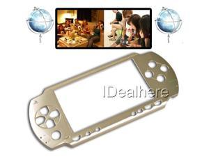 Light Golden Faceplate Shell Case Cover Replace Part For PSP 1000