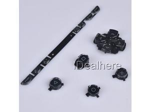 Black Button Keypad Replacement Button Repair Parts Set For PSP 1000