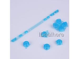 Transparent Blue Button Keypad Replacement Button Repair Parts Set For PSP 1000